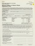 National Register of Historic Places Registration form – page 1