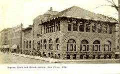 Ingram Block, 1893 Grand Avenue Eau Claire, WISCONSIN Architect: Orff & Joralemon Cost: $65,000 TORN DOWN Photo: Improvement Bulletin Aug 17 & Nov 11, 1893