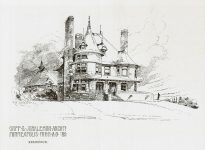 Stephen C Tooker House, 1893 (SC Tooker & CO) 820 Summit Avenue Lowry Hill Minneapolis, MINNESOTA Architect: Orff & Joralemon Cost: $7,000 TORN DOWN Pen & Ink Drawing: Albert Levering del 1889 (Mpls History Collection)