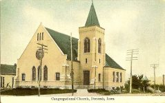 Congregational Church, 1895 cor Court ST & Broadway Street Decorah, IOWA Architect: Orff & Joralemon Cost: $15,000 STANDING 1997 Postcard: Pub. by Brunt & Parman (CDT Collection)