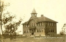 Campbell (Minn) School Campbell, MINNESOTA Real Photo Postcard (RPPC): (CDT Collection)