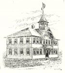 Stanley (Wis) School, 1895 Stanley, WISCONSIN 3rd Avenue Architect: Orff & Joralemon Cost: $4,000 MOVED and later BURNED DOWN 1914 Brickbuilder June 1896 Xerox: Drawing from Stanley (Wis) Area Historical Society (CDT Collection)