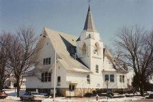 Methodist Church, 1896 106 Center Avenue North & 1st Street NE Madelia, MINNESOTA Architect: Orff & Joralemon Cost: $10,000 STANDING 1991 Snapshot: by Kathryn Traver of Truman, MN Feb 1991 (CDT Collection)