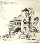Pillsbury Hall, MPLS?, 1890 Architect: LS Buffington Pen & Ink Drawing: signed by EE Joralemon, del (lower right) (NW Arch Archives) ?Built ?