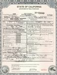 Death Certificate State of California For: Edgar Eugene Joralemon Date of death: September 29, 1937 Place of death: Los Angeles, California