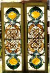 Dr. Henry Elmer Holmes House, 1887 1418 Park Avenue Minneapolis, MN Original Stained Glass (Stolen/Recovered) Two of the windows over the main stairway Found by Mpls Police 1989 Stolen by rare book thief Steve Blumberg Photo: July 26, 1992 (CDT Collection)