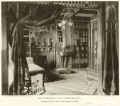 Dr. Henry Elmer Holmes House, 1887 Photo interior view: Supplement to Northwestern Architect Vol. 6 No. 1