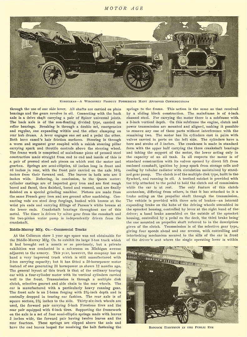1907 2 7 BABCOCK Electric Car Babcock Electrics in the Public Eye Babcock Electric Carriage Co Buffalo, New York MOTOR AGE February 7, 1907 8″x11.25″