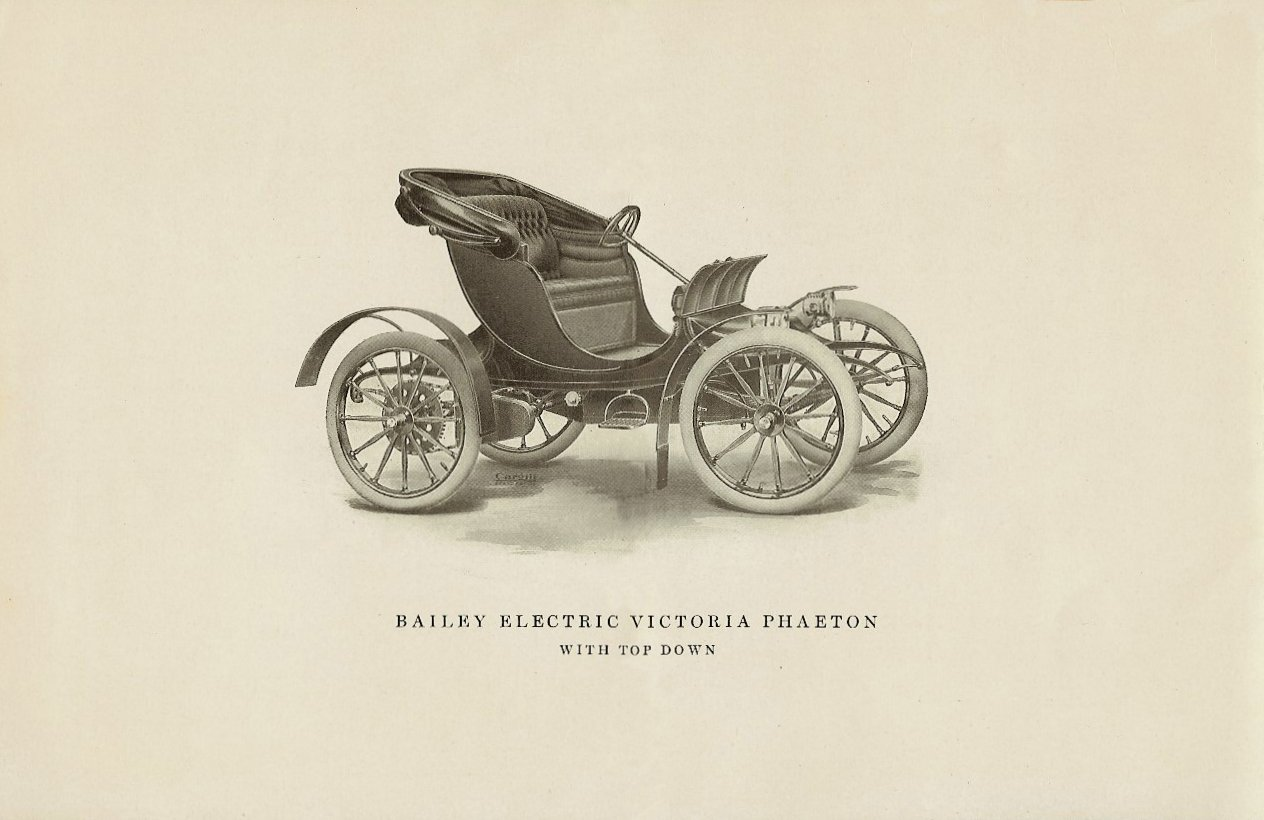 1909 The BAILEY ELECTRIC VEHICLES S R Bailey & Company, Inc Amesbury, MASS Folded: 8.75″x5.75″ page 4