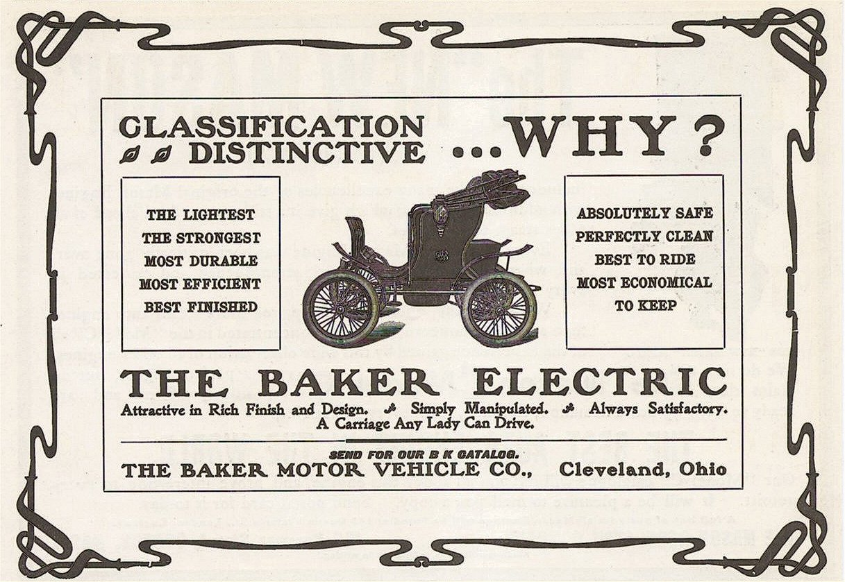 1904 THE BAKER ELECTRIC Classification Distinctive WHY? Cleveland, Ohio 8.25″x5.75