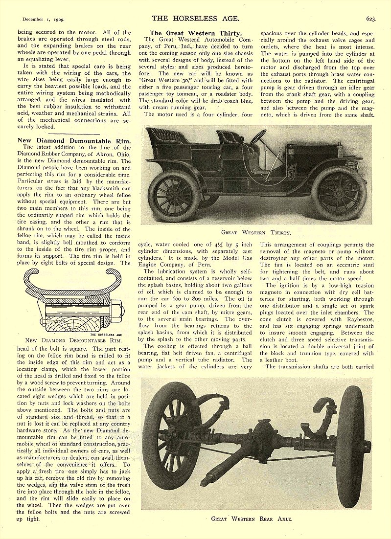 1909 12 1 BAKER Electric BAKER ELECTRIC FOUR PASSENGER COUPE Baker Motor Vehicle Company Cleveland, OHIO THE HORSELESS AGE December 1, 1909 8.5″x12″ page 623