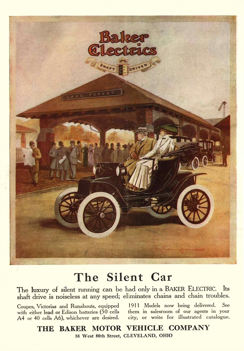 1911 Baker Electrics The Silent Car 9.5″x13.75″