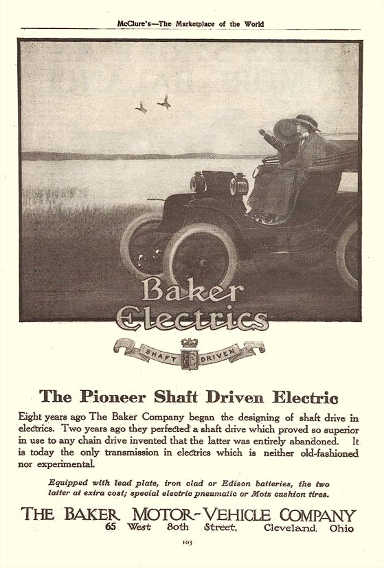 1911 Baker Electrics The Pioneer Shaft Driven Electric McClure's The Marketplace of the World 6.5″x9.75″ page 103