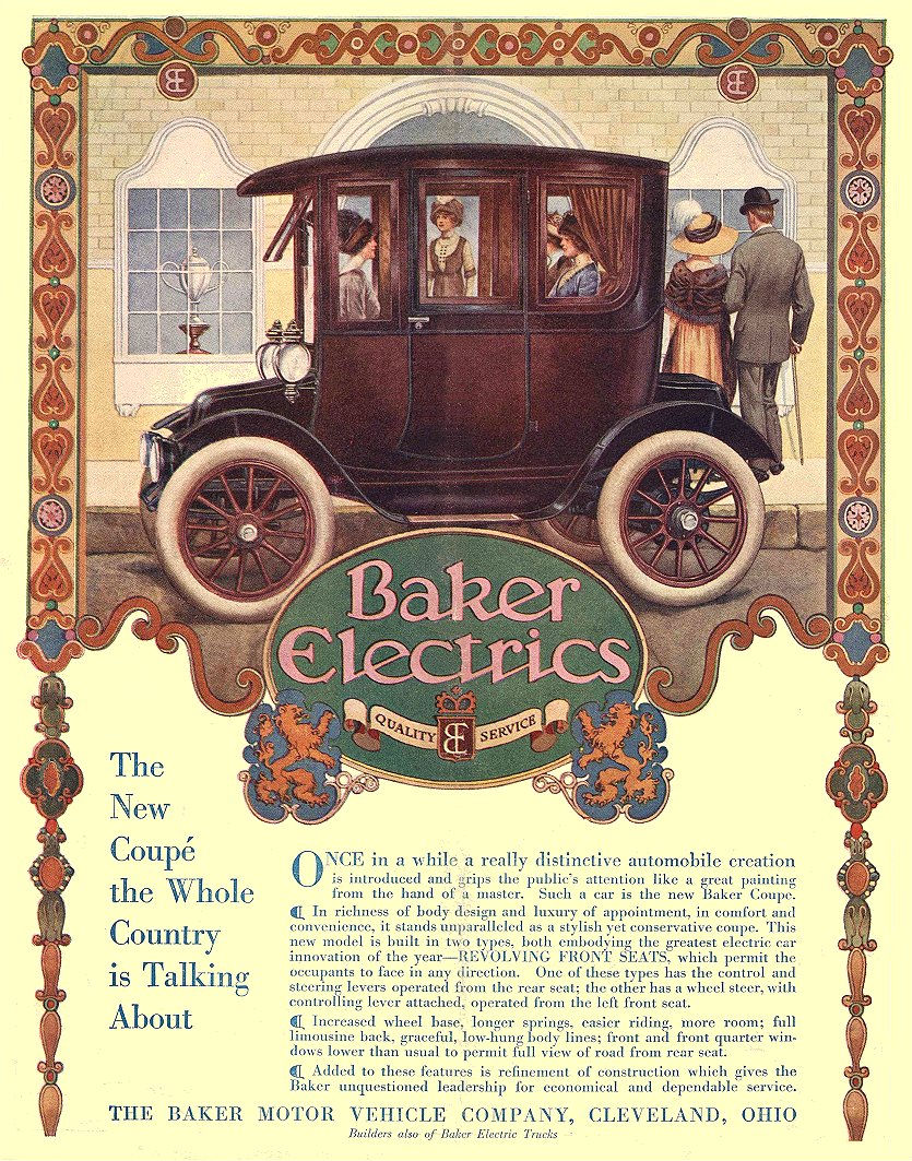 1912 11 21 BAKER Electric The New Coupe THE BAKER MOTOR VEHICLE COMPANY Cleveland, OHIO LIFE November 21, 1912 8.5″x10.75″