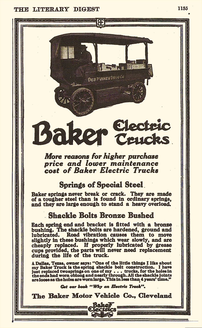 1913 Baker Electric Trucks The Literary Digest Page 1135 6″x9″