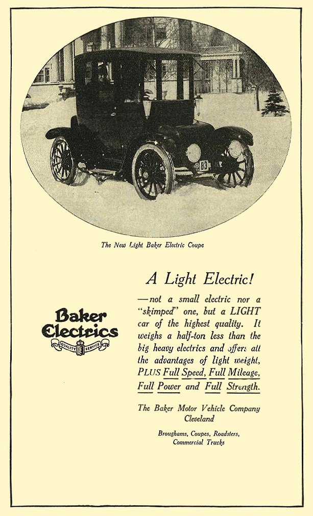 1915 BAKER Electric A Light Electric! The Baker Motor Vehicle Company Cleveland, OHIO 1915 4.75″x8.25″