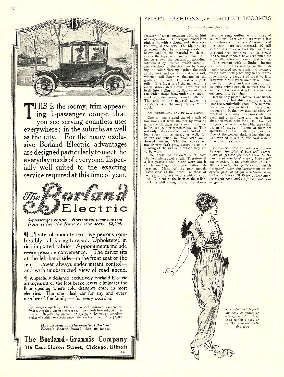1913 ca. 11 BORLAND Electric The Borland Electric The Borland-Grannis Company Chicago, ILL ca. November 1913 page 88