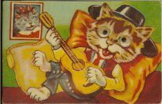 "Cat Squeaker Postcard SOUVENIR POSTCARD 5.5""x3.5"" Postmarked: Portland, Oregon Sept 11, 1961"