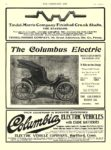 1905 8 30 COLUMBUS Electric Car Double Chain Drive Solid Rear Axle The Columbus Buggy Co Columbus, OHIO THE HORSELESS AGE August 30, 1905 8.5″x11.75″ page VI
