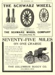 1906 11 7 COLUMBUS Electric SEVENTY-FIVE MILES On One Charge The Columbus Buggy Co Columbus, OHIO THE HORSELESS AGE November 7, 1906 8.5″x11.25″ page 90