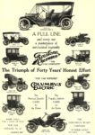"1910 COLUMBUS Electric ""THE CAR SUPREME"" The Columbus Buggy Co Columbus, OHIO HARPER'S WEEKLY 1910 10″x14.25″ page 25"