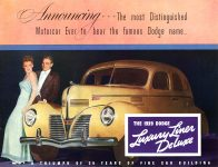 1939 DODGE Luxury Liner DODGE's SILVER ANNIVERSARY Form-403-250M-10-38- DODGE DIVISION OF CHRYSLER CORPORATION Detroit, MICH 11″x8.5″ page 16
