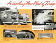 1939 DODGE Luxury Liner DODGE's SILVER ANNIVERSARY Form-403-250M-10-38- DODGE DIVISION OF CHRYSLER CORPORATION Detroit, MICH 11″x8.5″ page 3