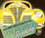 "1939 PLYMOUTH ""Roadking 10″x8.5"" Front cover"