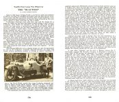 "1912 THE ""BI-AUTOGO"" Floyd Clymer's HISTORICAL MOTOR SCRAPBOOK Number 5 1948 5.5″x8.5″ pages 104 & 105"