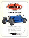 1927 BUGGATI Replicar A CLASSIC REPLICAR ca. 1960s CREATE-A-CLASSIC Palmer, MASS 8.5″x11″ Front