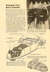 1948 1 DAVIS Tricycle Car Gets Around POPULAR SCIENCE January 1948 6.5″x9.5″ page 141