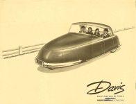 1949 DAVIS Davis Motors of Texas Fort Worth, Texas Davis Motorcar Company Van Nuys, Calif Ca. 1949 11″x8.5″ Front