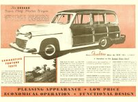 1948 ca. Comes the Revolution … in modern automobiles! Geo D. Keller A Completely New Size Car… In the Lowest Price Field KELLER ca. 1948 7″x10″ folded or 14″x 10″ open