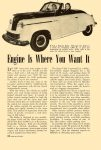 1948 1 Engine Is Where You Want It Popular Science article on Keller cars Dated January 1948 6.5″x9.5″ page 146