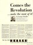 1948 3 1 Comes the Revolution … make the most of it! By George D. Keller The New 1948 KELLER Reprint: Automotive News March 1, 1948 un-folded 22″x15.5″