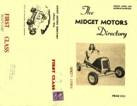 1947 3-4 The MIDGET MOTORS Directory March-April 1947 No. 18 MIDGET MOTORS DIRECTORY Athens, OHIO 12″x9.25″ Front & Back covers