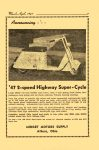 1947 3-4 The MIDGET MOTORS Directory March-April 1947 No. 18 '47 2-speed Highway Super-Cycle MIDGET MOTORS DIRECTORY Athens, OHIO 6″x9.25″ page 7