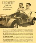 1955 ca. KING MIDGET Junior Practical Car For Driver Education MIDGET MOTORS SUPPLY Athens, OHIO 8.5″x10″ Front