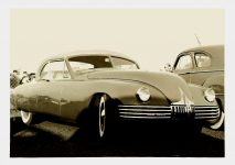 1948 ca. Kurtis Kraft Spee built Buick Modern Photography Laboratory 7″x5″ black & white photograph