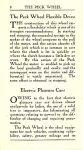 ca. 1911 The Peck Wheel The Peck Wheel Flexible Drive Electric Pleasure Cars Peck Wheel Company Chicago, Ill 3.5″x6″ page 8