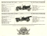 1910 WHITE Steam Car MoToR's 1910 MoToR CAR DIRECToRY Published By MoToR, New York 10″x7.25″ page 121