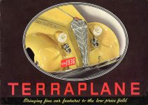 1936 TERRAPLANE HUDSON MOTOR CAR COMPANY Detroit, MICH 11″x7.75″ Front cover
