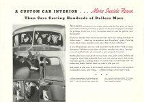 1936 TERRAPLANE More Inside Room HUDSON MOTOR CAR COMPANY Detroit, MICH 11″x7.75″ page 3