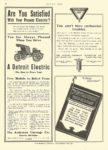 1908 10 8 DETROIT Electric Are You Satisfied Anderson Carriage Company Detroit, MICH MOTOR AGE October 8, 1908 8.5″x11.75″ page 66