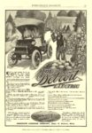 1909 7 DETROIT Electric THE Detroit ELECTRIC ANDERSON CARRIAGE COMPANY Detroit, MICH EVERYBODY'S MAGAZINE July 1909 7″x9.75″ page 65