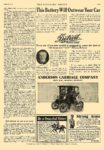 1910 6 11 DETROIT Electric This Battery Will Outwear Your Car ANDERSON CARRIAGE COMPANY Detroit, MICH The Literary Digest June 11, 1910 8.25″x12″ page 1193