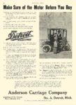 1910 1 20 DETROIT Electric Anderson Carriage Company Detroit, MICH MOTOR AGE January 20, 1910 8.5″x12″ page 46