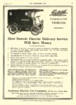 1911 11c 22 DETROIT Electric Truck Commercial VEHICLES Anderson Electric Car Company Detroit, MICH THE HORSELESS AGE November 22, 1911 8.5″x12″ page 33