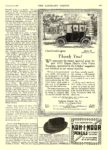 1912 11 16 DETROIT Electric Thank You! Anderson Electric Car Co. Detroit, MICH The Literary Digest November 16, 1912 9″x12″ page 929