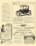 1912 DETROIT Electric Edison Battery Anderson Electric Car Company Detroit, MICH LIFE 1912 AD = 5.5″x8″ page 407